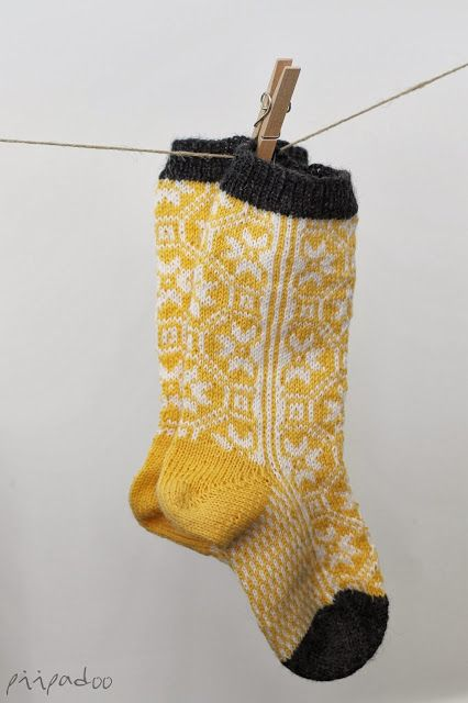 My socks, yellow, white n grey