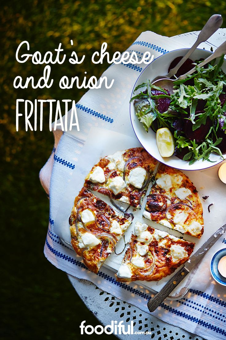 With a sweet onion base (thanks to a drop of honey), this goat's cheese frittata will be a sure crowd pleaser. The recipe takes 25 minutes and serves 2 people.