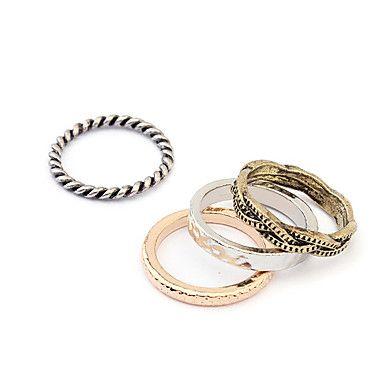 estilo punk vintage set anel de bronze (4 peças) - BRL R$ 5,15