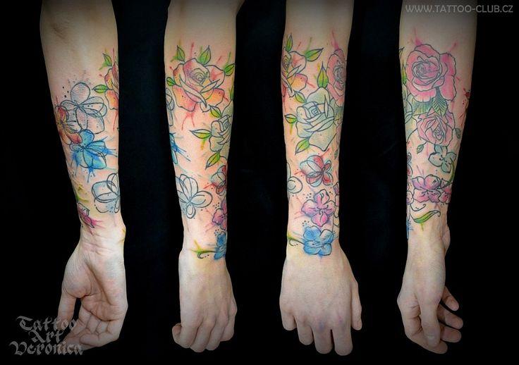 tetovanihradec.jalbum.net  abstract watercolour flower tattoo