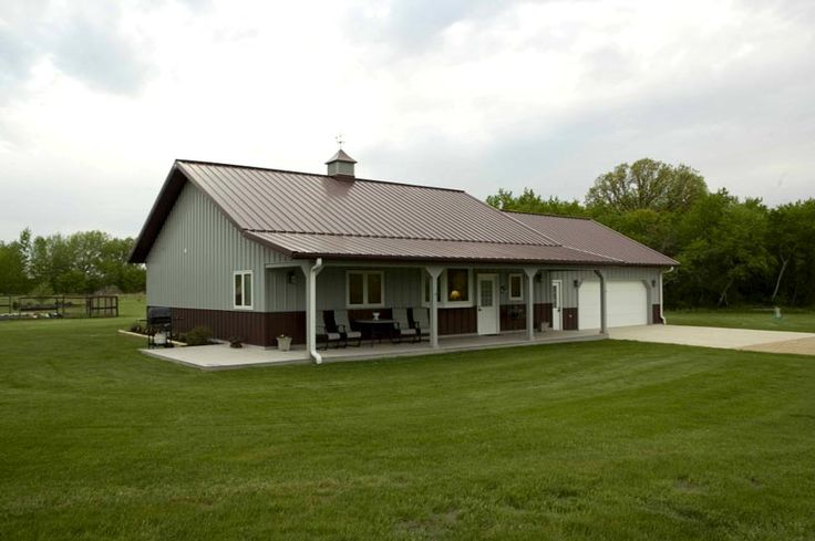 17 best images about metal homes on pinterest house for Metal garage with porch