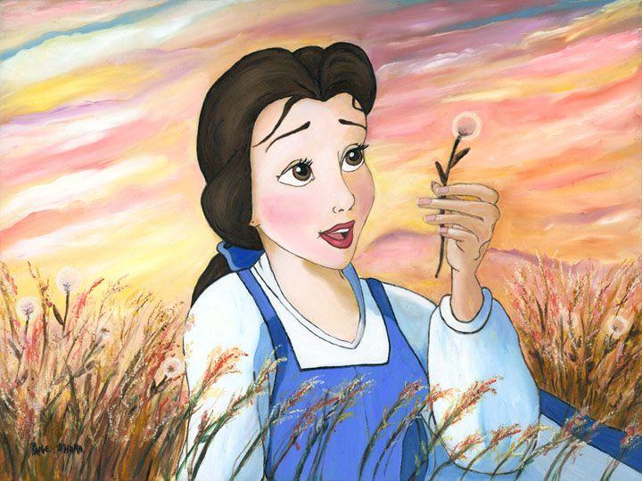 """Daydreams"" by Paige O'Hara   Disney Fine Art   Disney's Beauty and the Beast"