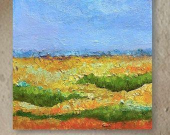 Cielos abiertos óleo original sobre lienzo paisaje