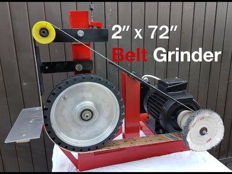 "DIY 2x72"" / Belt Grinder with buffing wheel - YouTube"