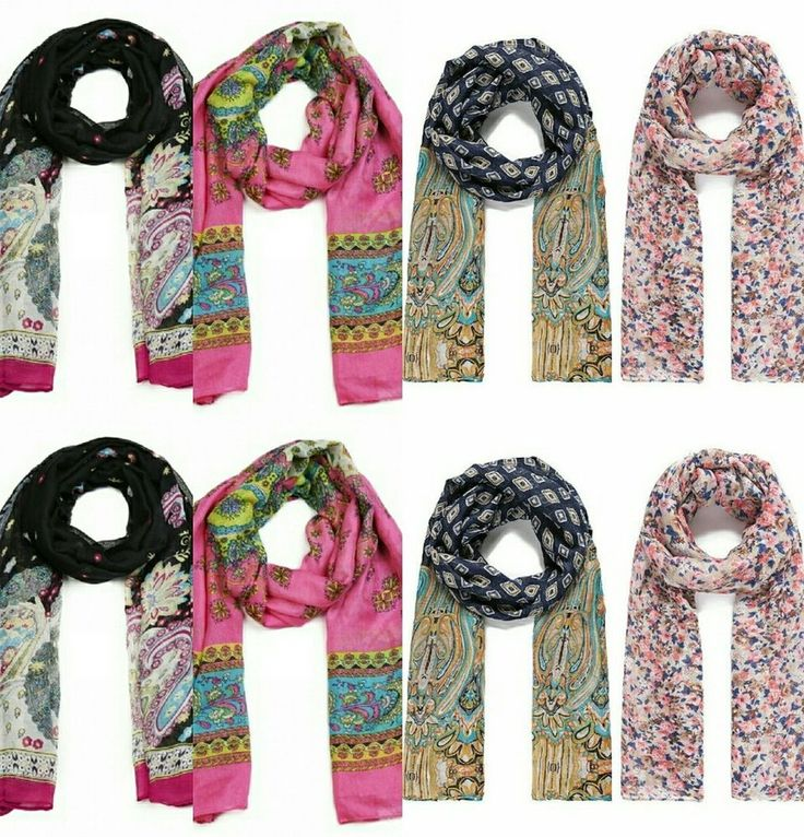 Job lot pack of 4 ladies scarves shawls stoles chiffon spring summer ethnic in Clothes, Shoes & Accessories, Women's Accessories, Scarves & Shawls | eBay!