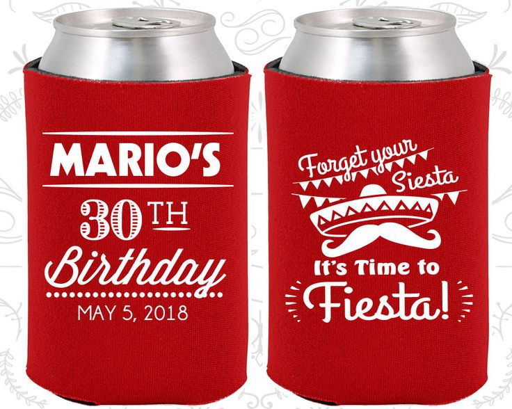 30th Birthday, 30th Birthday Favors, Customized Birthday Party, Forget your siesta, its time to fiesta, Fiesta Birthday Favors (20034)