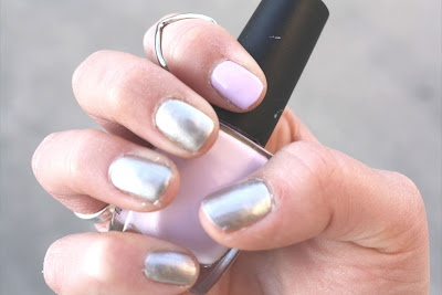 Dual Colored Nails: New post !    http://ko-efficient.blogspot.com/2012/03/dual-color-nails.html: Dual Colors, Colors Nails, Color Nails
