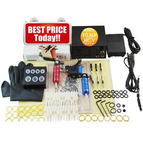 57.83$  Watch here - Beginner Complete Tattoo Kit 2 Professional Tattoo Machine Kit Coil Machine Guns Power Supply Needle Grips Set PTK-911-A1  #aliexpressideas