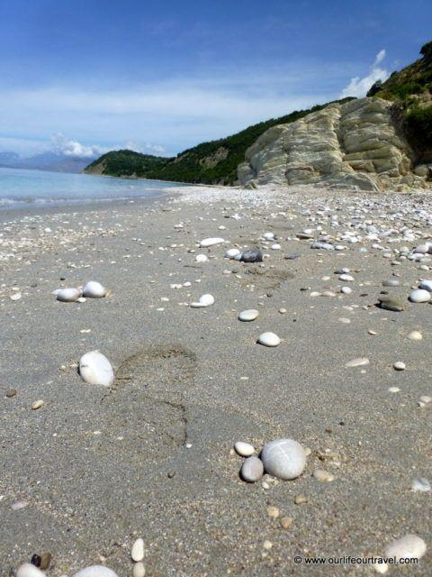 Road trip on the Albanian coast: Lukova beach