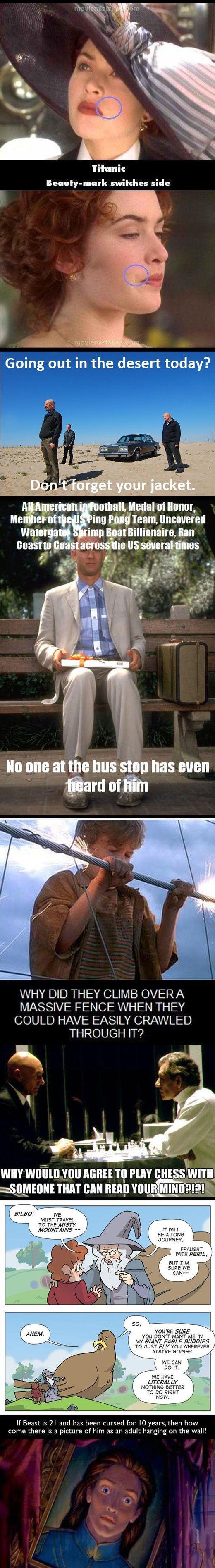 Movie mishaps.