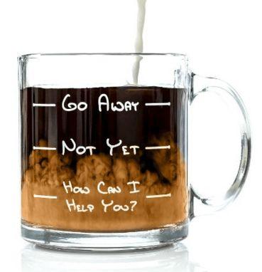 Go Away Funny Glass Coffee Mug #Funny