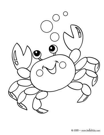 kawaii crab coloring page - Sebastian Crab Coloring Pages