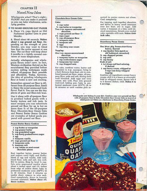 Old Fashioned Quaker Oats Famous Oatmeal Cookies - Recipe 2