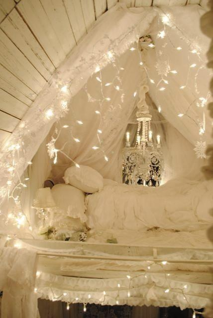45 best images about bedroom lights on pinterest string - How to hang string lights in bedroom ...