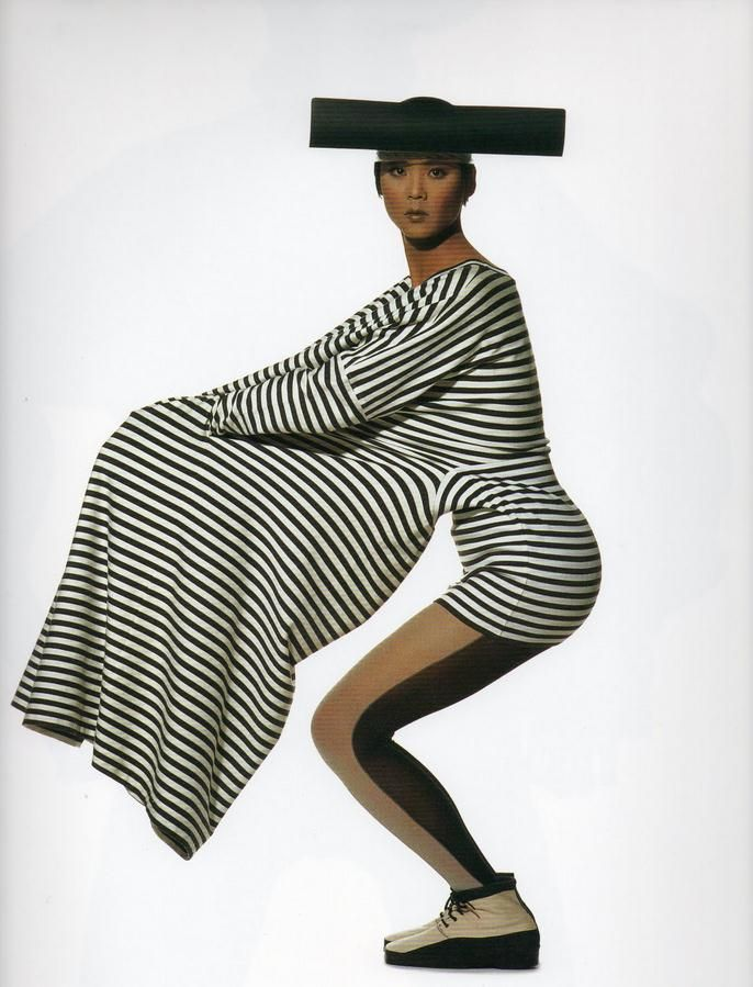 Model Wearing Issey Miyake Dress Photographed By Irving Penn