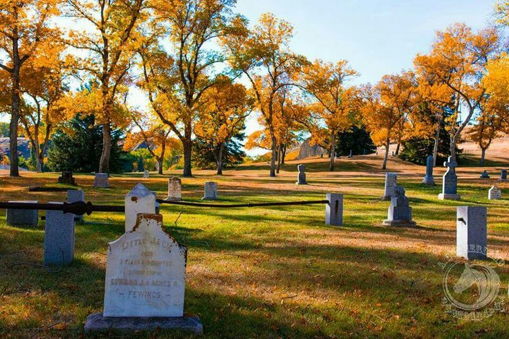 Medicine Hat AB. Beautiful fall scenery for a graveyard