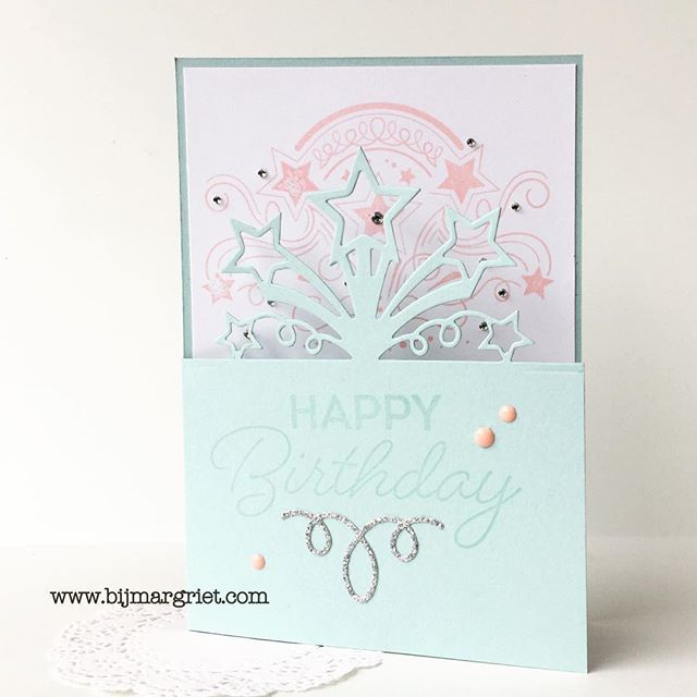 Happy birthday card in pastel shades #stampinup #birthdayblast #pastel #subtles