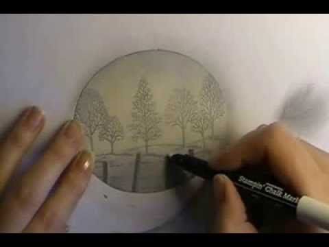 ▶ Creating Fog or Mist Sponging Technique - YouTube