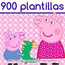 Resultado de imagen para peppa pig tarjetas de cumpleaños para colorear