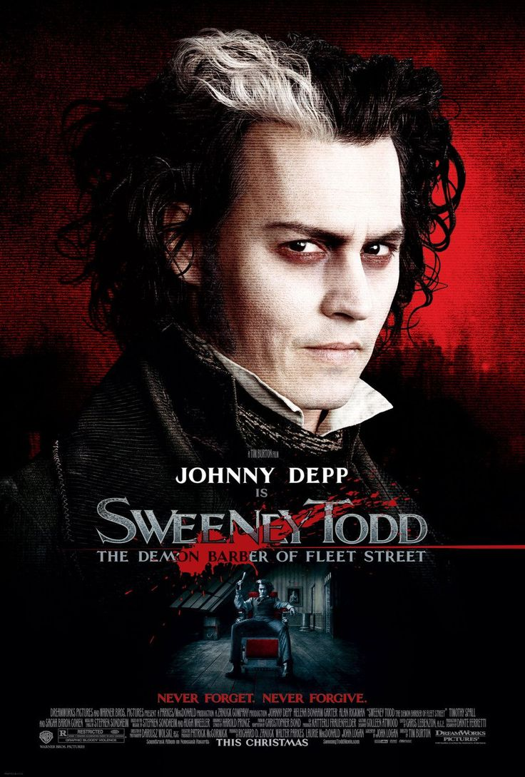 Sweeney Todd (2007)    A musical starring Johnny Depp. Two of my favourite things.  Also starring Helena Bonham Carter and Alan Rickman.