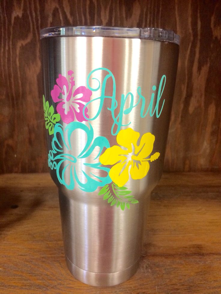 Big floral Yeti decal...summer fun!