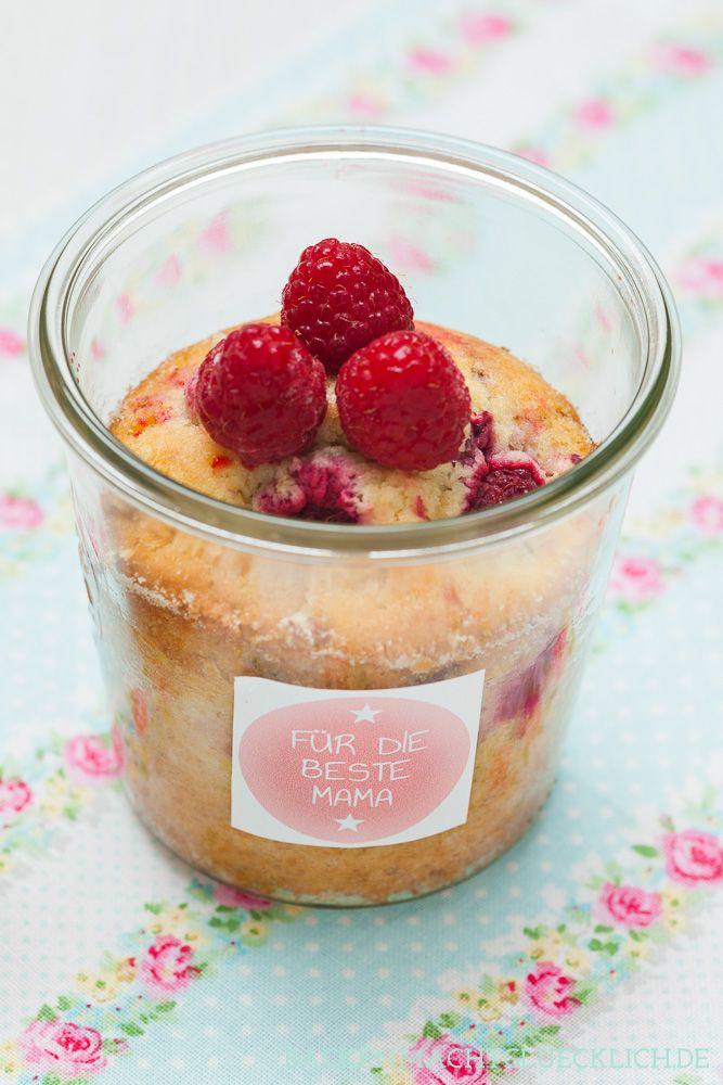 Backen macht glücklich | Muttertags-Kuchen im Glas and Etikett-Vorlage | http://www.backenmachtgluecklich.de