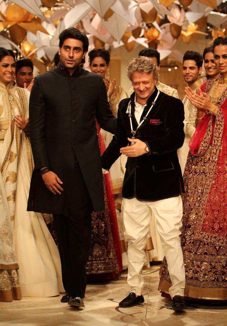 Abhishek Bachan with designer Rohit Bhal