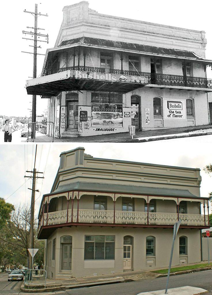 Shop and residence, corner Brighton and railway Streets, Petersham c1980 > 2014 [Marrickville Council > Greg Davis. By Greg Davis]