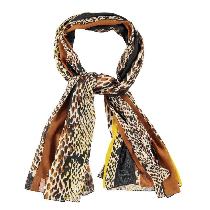 Gestreepte sjaal met dierenprint - Veritas