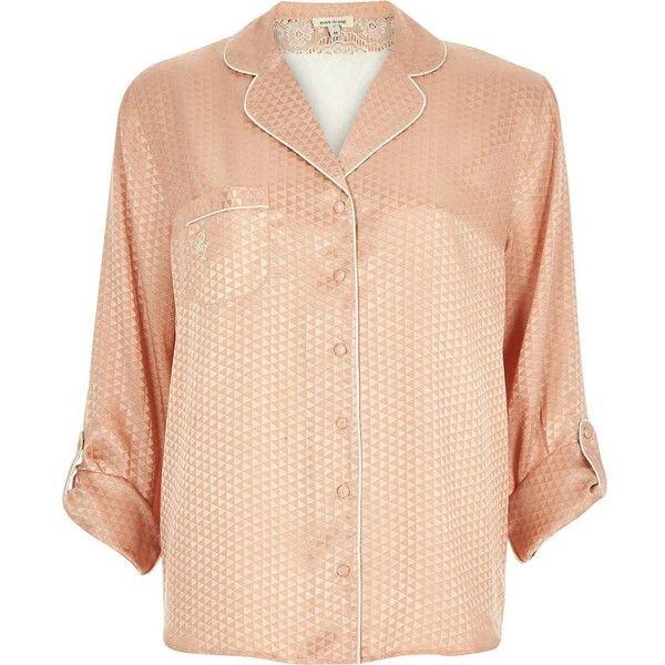 River Island Pink Silk Pajamas