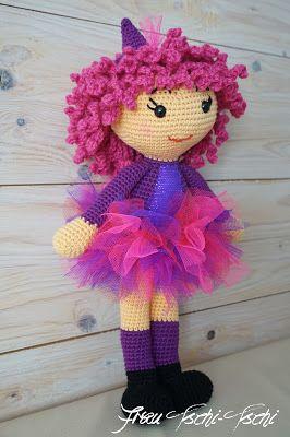 Hexe häkeln – Anleitung kostenlos – crochet pattern free