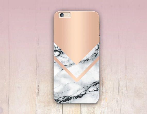 Rose Gold Marble Print Phone Case iPhone 6 Case di CRCases