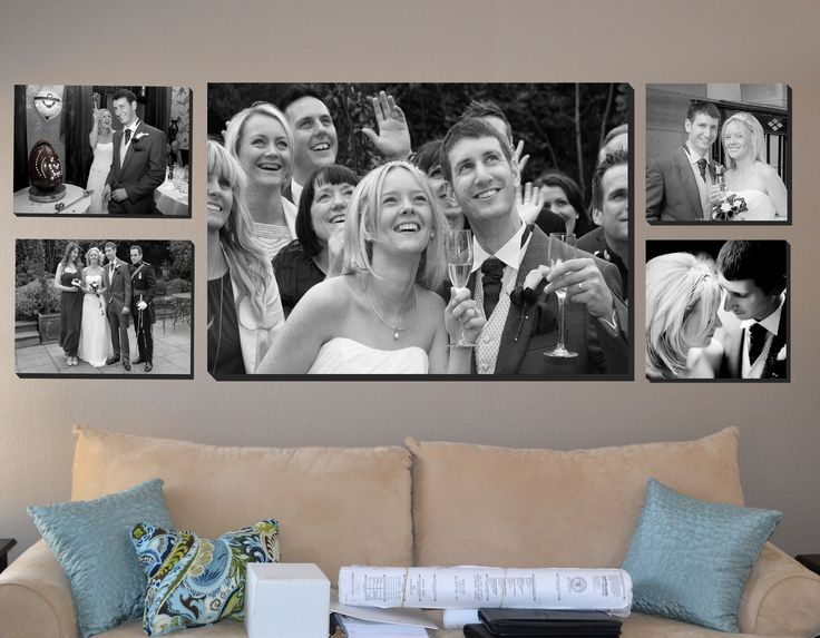 Wedding collage collection black and white beautiful wall art display upload your photos