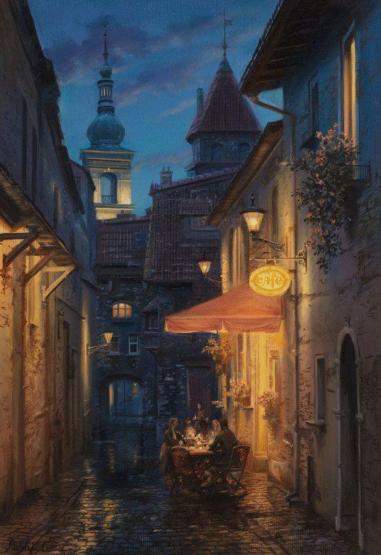 Prague Cafe. Evgeny Lushpin.   Evgeny Lushpin   Pinterest ...