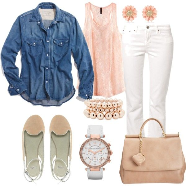Spring #outfit ideas- totally wearing something to similar to this on the next sunny 65 degree + day!  :)