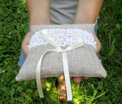 Свадебные подушки для колец, Wedding ring pillow шитье, sewing, linen, Burlap pillow