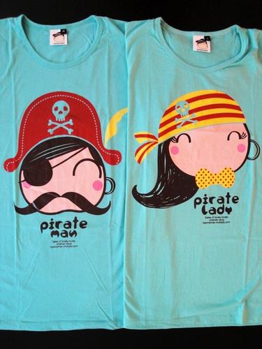 New Arrival One Man Cute Couple T Shirt Pirate Men Women
