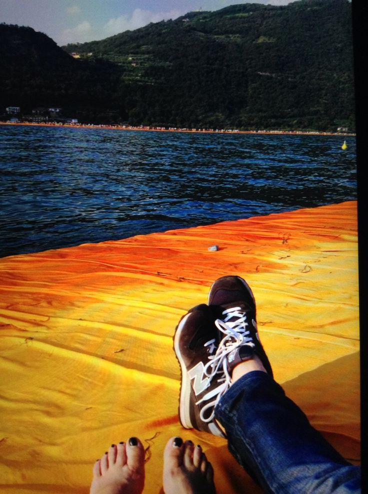 Passerella Christo'....piccola sosta per ammirare il panorama