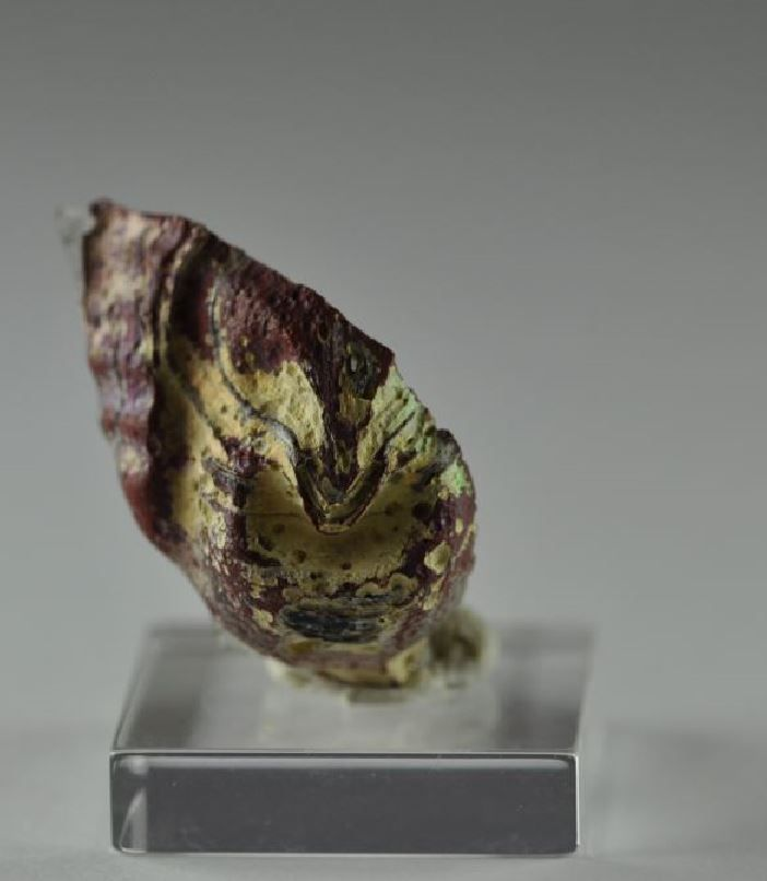 Roman theater mask glass applique, 2nd century A.D. Roman glass applique in form of theatre mask, 2.3 cm high. Private collection