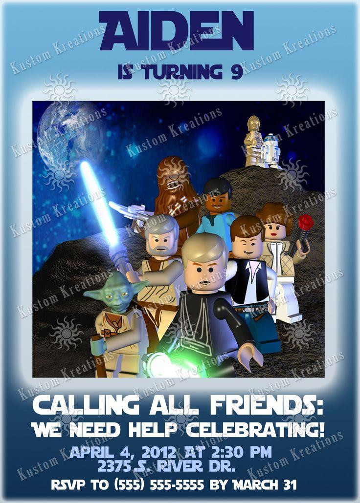 star wars birthday invitations personalized