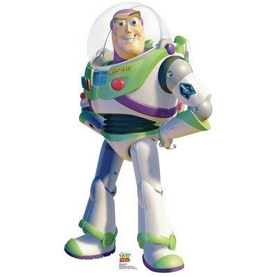 Buzz Lightyear - Toy Story Cardboard Stand-Up by Advanced Graphics. $34.95. In this Toy Story cardboard cutout set Buzz Lightyear is standing confidently with his hands on his. The Buzz Lightyear Cardboard Standup is a life-size cutout prop of the main character from the 1995. The standee can stand-up or hang on a wall.. Toy Story follows a group of toys who pretend to be lifeless whenever humans are present and. The Toy Story Buzz Lightyear lifesize standup is made o...