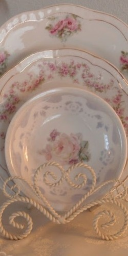 Delicate pink rose china #Shabby