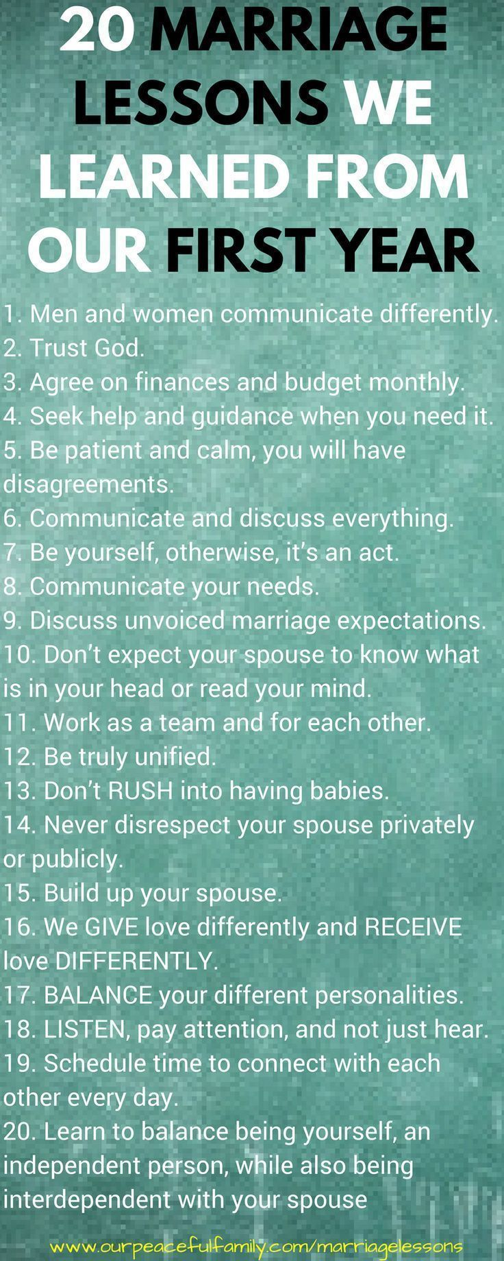 20 marriage lessons we learned from our first year,, Marriage Advice | Marriage Tips | Marriage goals