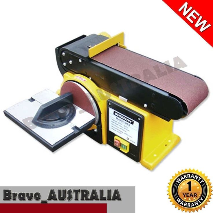 500W Belt Disc Sander Workshop Bench Sanding Linisher Machine Grinder