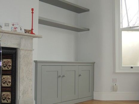 Period style cupboard finished in Farrow & Ball grey. Description from trustatrader.com. I searched for this on bing.com/images
