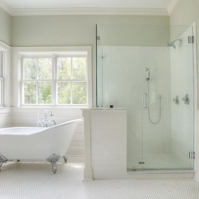 Master Bath Clawfoot Tub And Glass Shower Prosource Wholesale