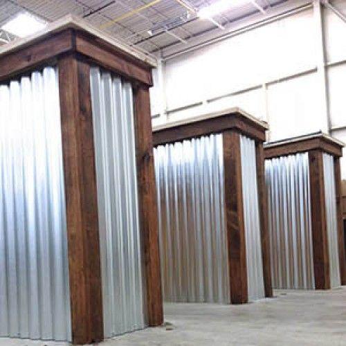 Wood Amp Metal Restaurant Signs Necr Corrugated Metal Bar