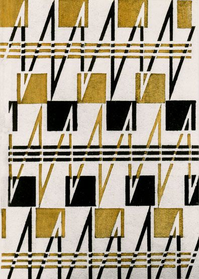 Textile design by Varvara Stepanova, 1925