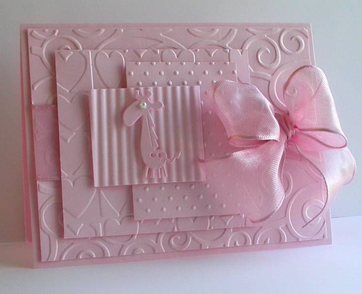 handmade card ... Stamp Muse by card crazy ... lots of layers embossed  with different embossing folders ... monochromatic pink ... awesome!