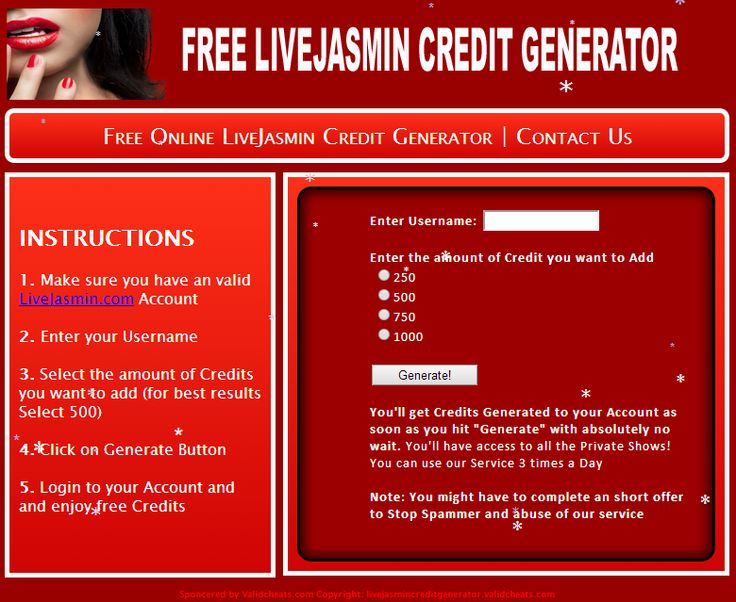 How to get free livejasmin credits